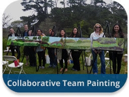 team building activities artistic endeavors collaborative team painting